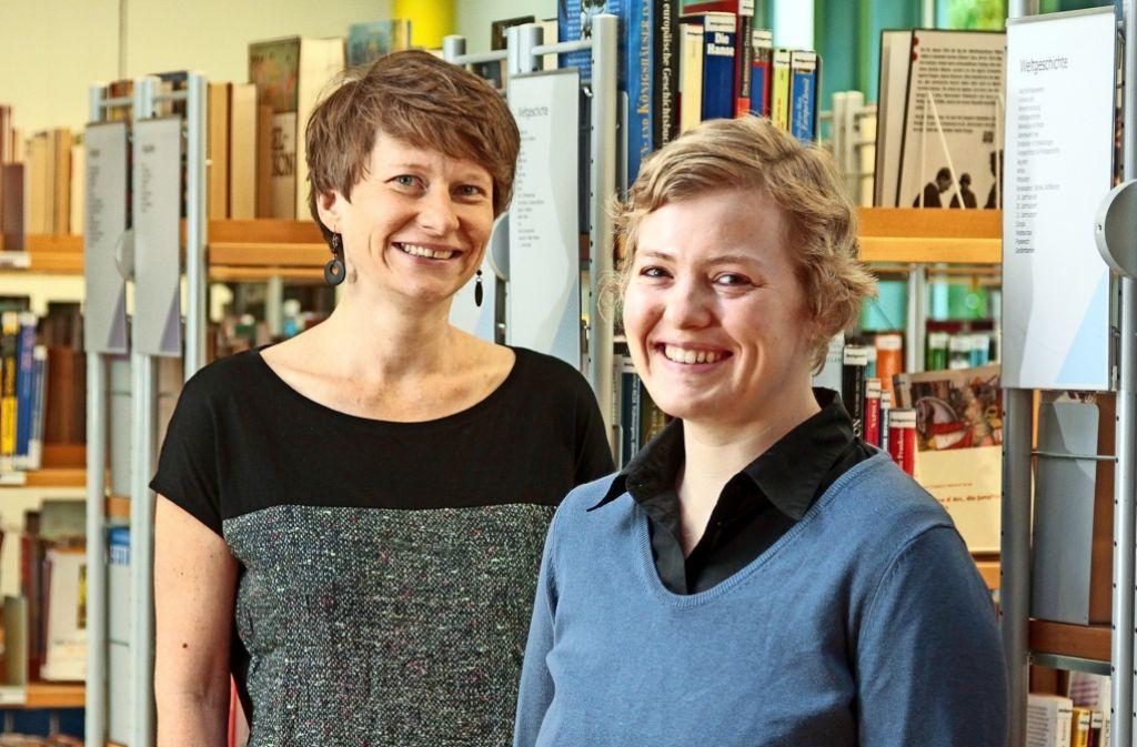 Beate Meinck (links) verlässt Ditzingen, Stefanie Schütte folgt ihr nach. Foto: factum/Granville