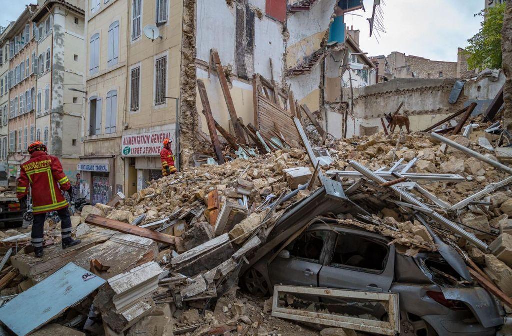 Die Suche nach Verschütteten in Marseille hält an. Foto: BMPM/SM Aedo
