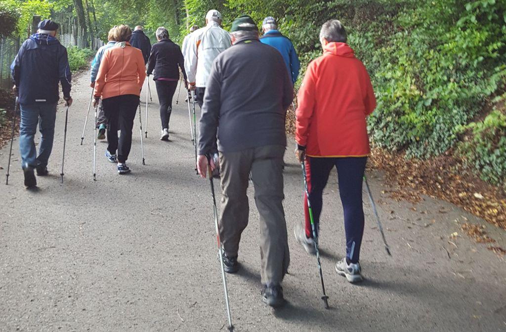 Auch  Nordic Walking fördert den Dialog. Foto: Archiv/privat