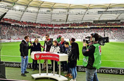 Schulklassen lernen beim  VfB Stuttgart Fairplay