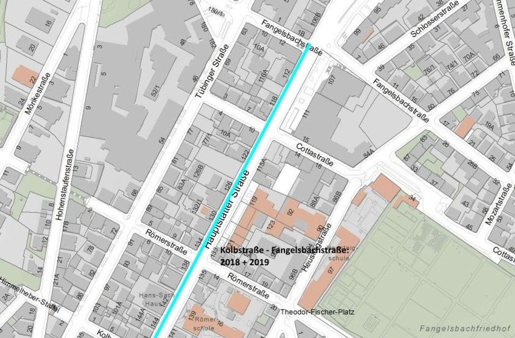 Entlang der Hauptstätter Straße werden Leitungen erneuert. Foto: Stuttgart Netze Betrieb GmbH