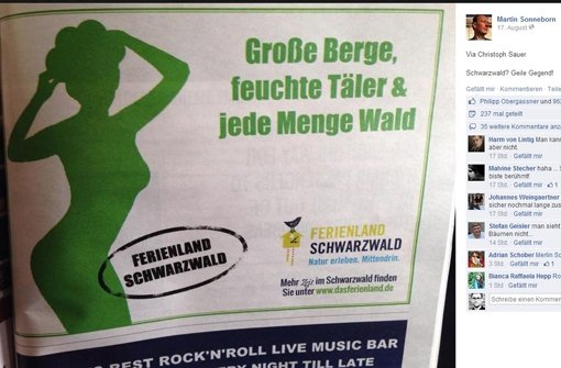 Schwarzwald wird frivol beworben