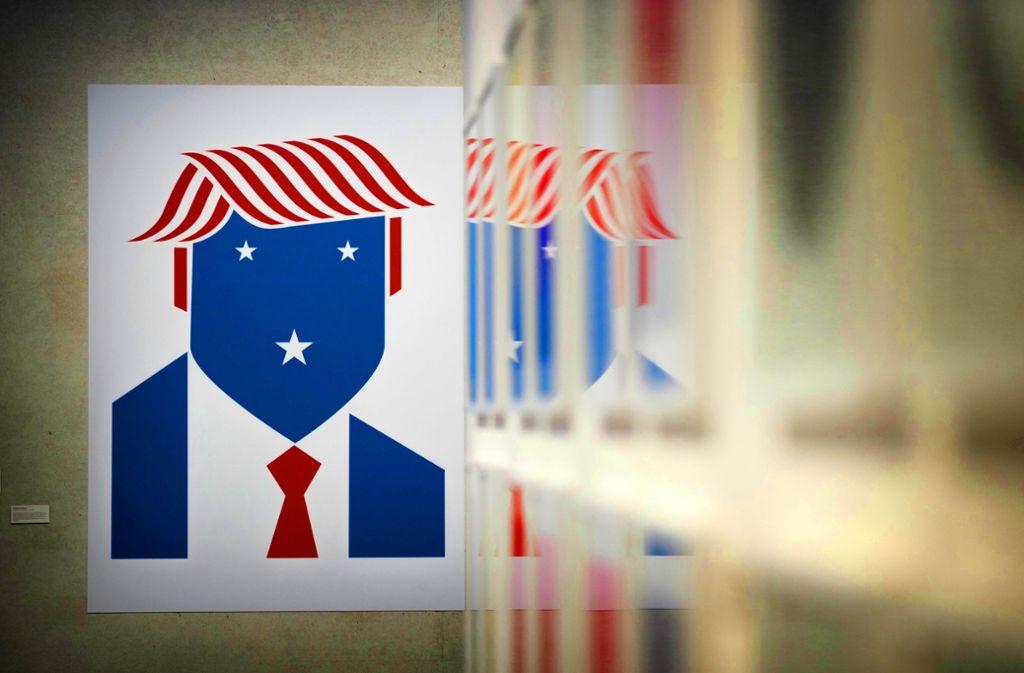 Donald Trump,  wie ihn der Grafikdesigner Christoph Niemann sieht Foto: Gottfried Stoppel