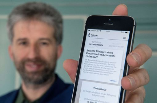Boris Palmer will Befragung per App etablieren