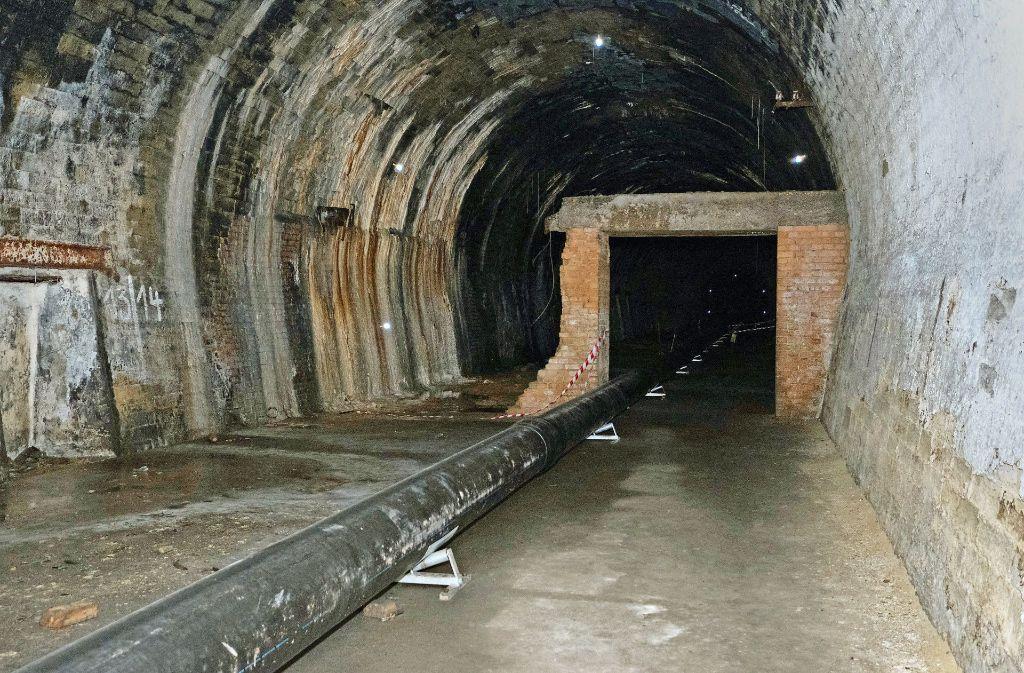 Tunnelwandist original, der gemauerte Einbau und das Rohr kamen später dazu.. Foto: Lichtgut/Michael Latz