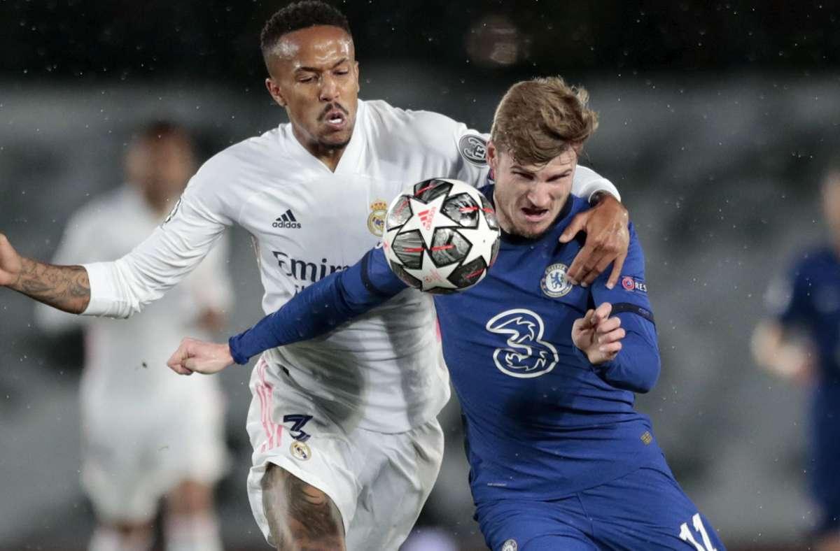 Timo Werner und der FC Chelsea haben sich in Madrid ein 1:1-Unentschieden erkämpft. Foto: dpa/Bernat Armangue