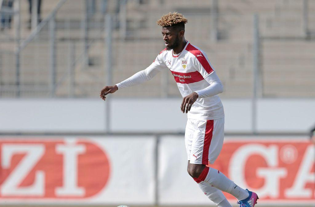 Jérôme Onguéné war in der laufenden Spielzeit bereits für die zweite Mannschaft des VfB Stuttgart aktiv. Foto: Pressefoto Baumann
