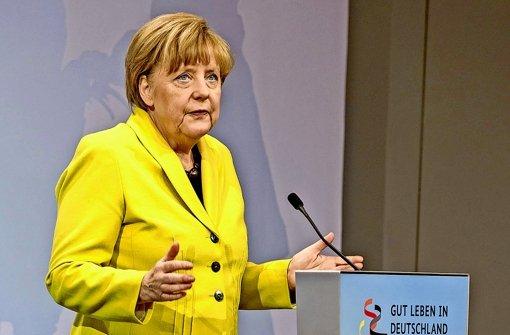 Angela Merkel in illustrem Kreis