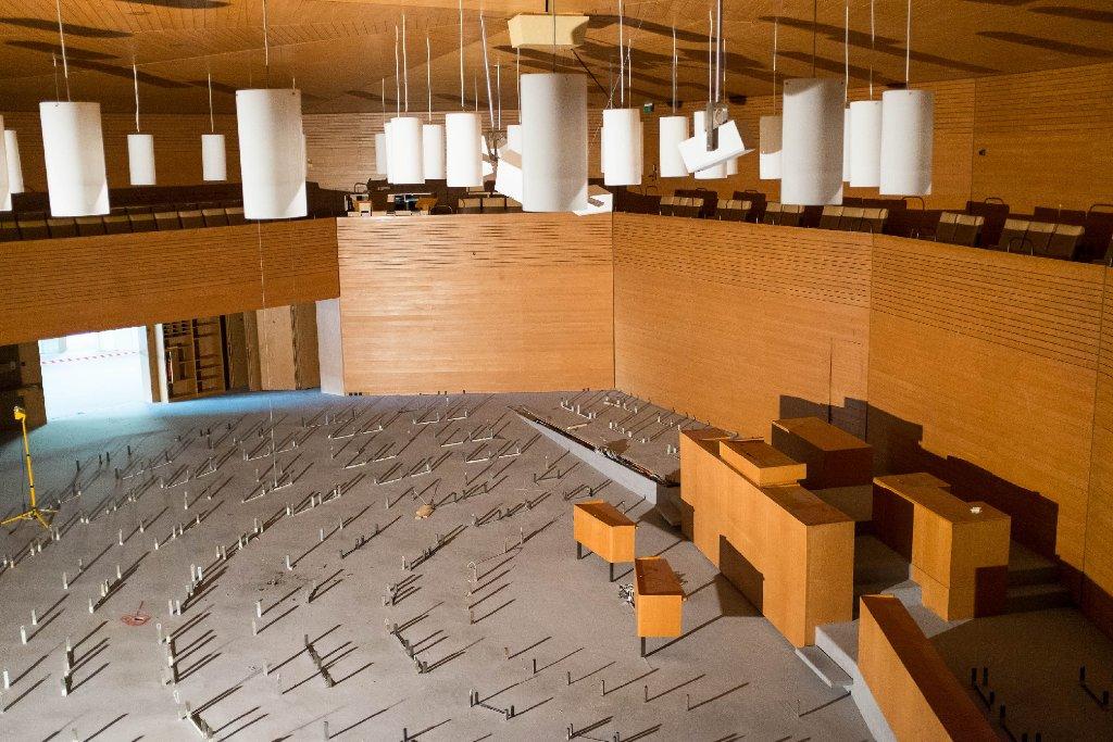 In unserer Fotostrecke zeigen wir die Umbaufortschritte im Stuttgarter Landtag - klicken Sie sich durch! Foto: www.7aktuell.de | Florian Gerlach
