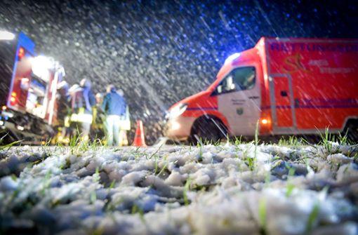 Schauerartige Schnee- und Regenfälle erwartet