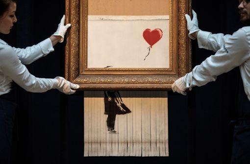 Banksy wollte sein Werk eigentlich vollständig zerstören