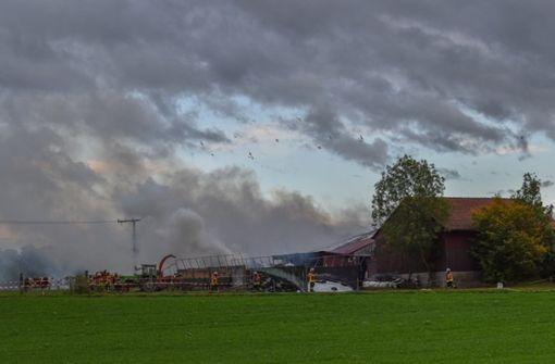 Anwohner retten Kühe aus brennendem Stall  - 300.000 Euro Schaden