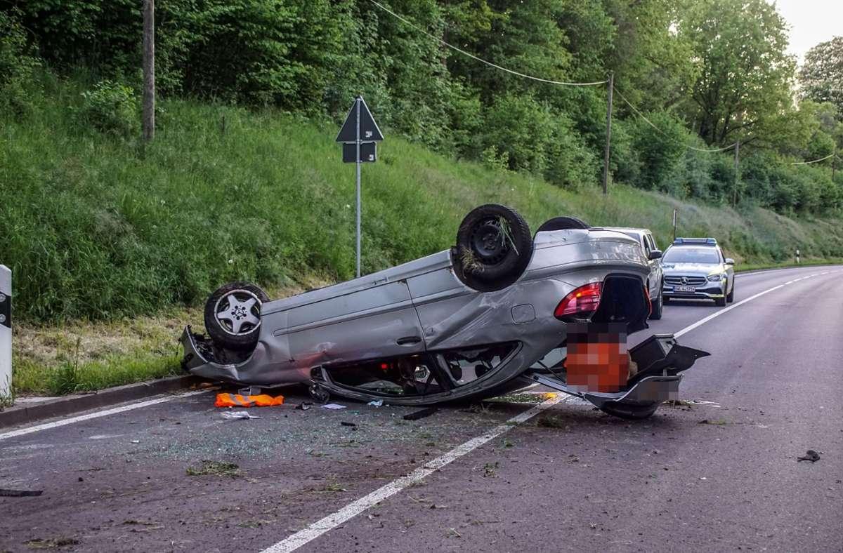 Die Fahrerin hatte aus zunächst ungeklärten Gründen die Kontrolle über ihren Wagen  verloren. Foto: SDMG/Dettenmeyer