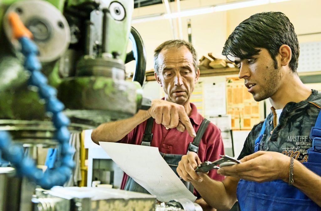 75 Prozent der Flüchtlinge in Deutschland haben keinen formalen beruflichen Abschluss nach deutschen Standards Foto: dpa