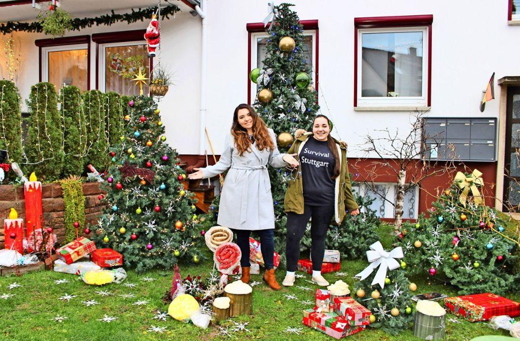 Pia und Sarah Ulmer (von links) haben ganze Arbeit geleistet. Foto: Caroline Holowiecki