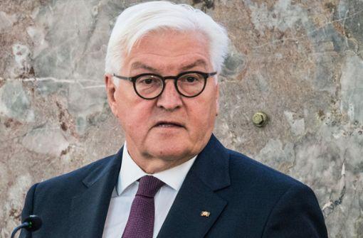 Bundestagspräsident Frank-Walter Steinmeier dankt Polizei