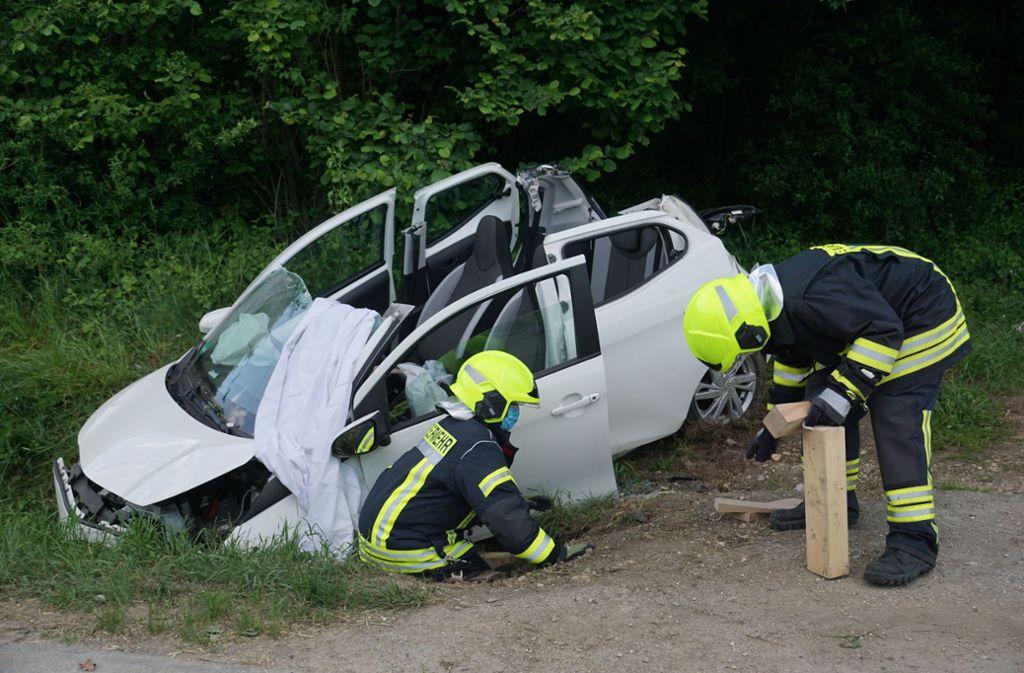 Der Unfall ereignete sich auf der L1218 bei Deggingen. Foto: SDMG/Woelfl