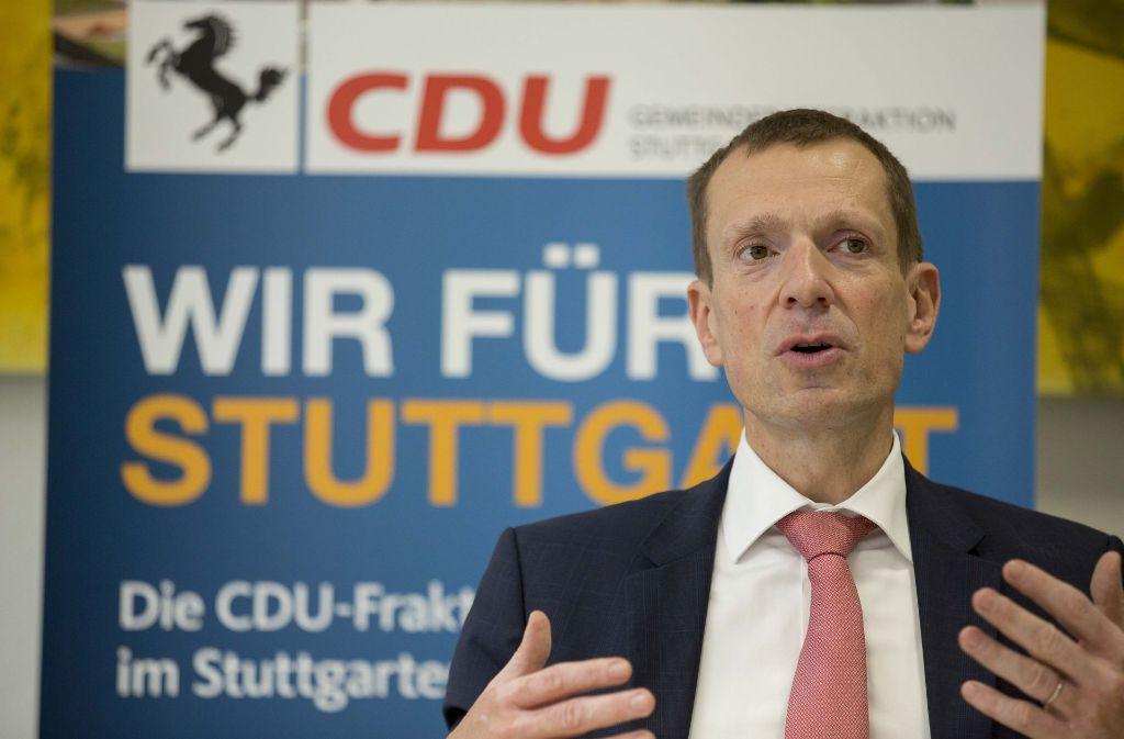 CDU-Fraktionschef Alexander Kotz kritisiert, dass sich der Grünen-OB nicht genügend um Visionen kümmere und nicht wirklich gestalten wolle. Foto: Lichtgut/Leif Piechowski