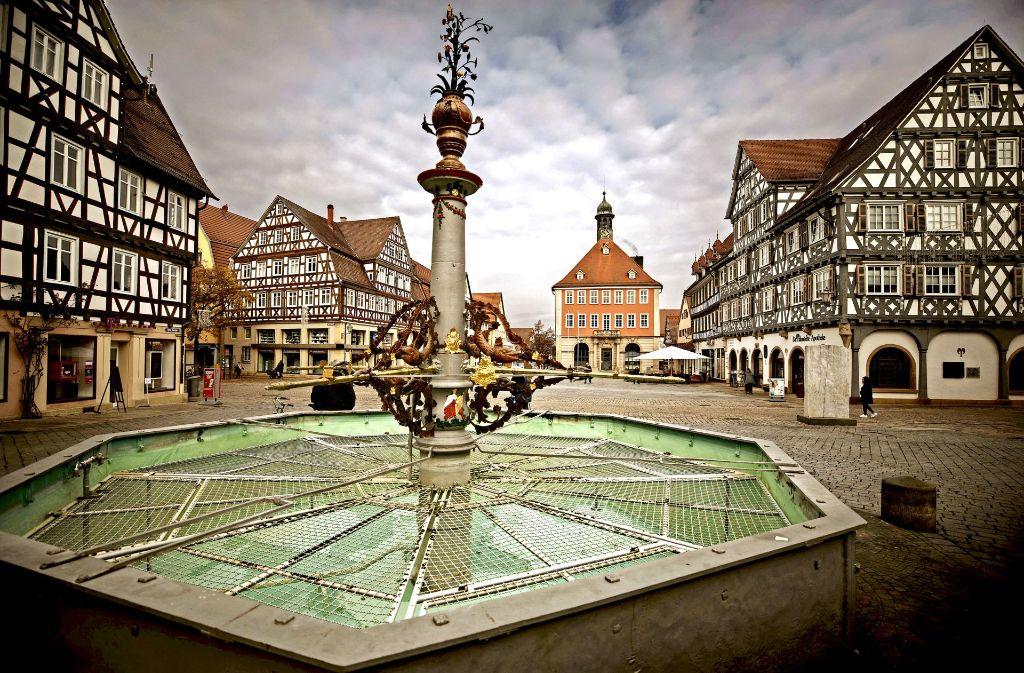 Ruhe prägt an vielen Tagen  den oberen Marktplatz in Schorndorf. Foto: Stoppel