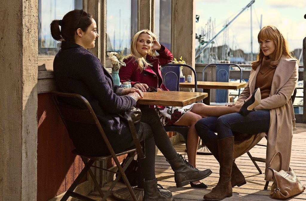 """Shailene Woodley, Reese Witherspoon und Nicole Kidman (von links) spielen die Hauptrollen in David E. Kelleys Miniserie """"Big Little Lies"""".Foto:HBO/Sky Foto:"""