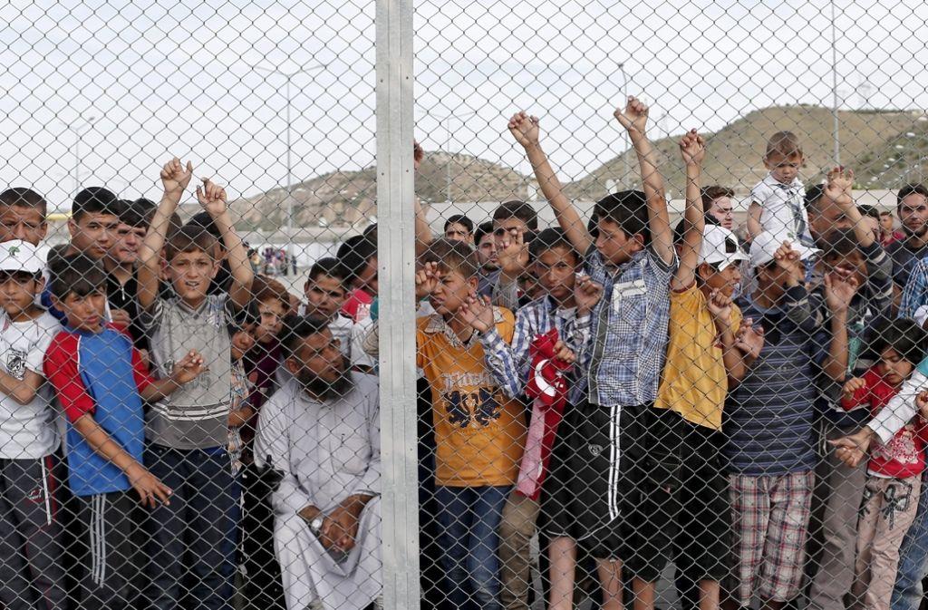Syrische Flüchtlinge in der Türkei. Foto: EPA