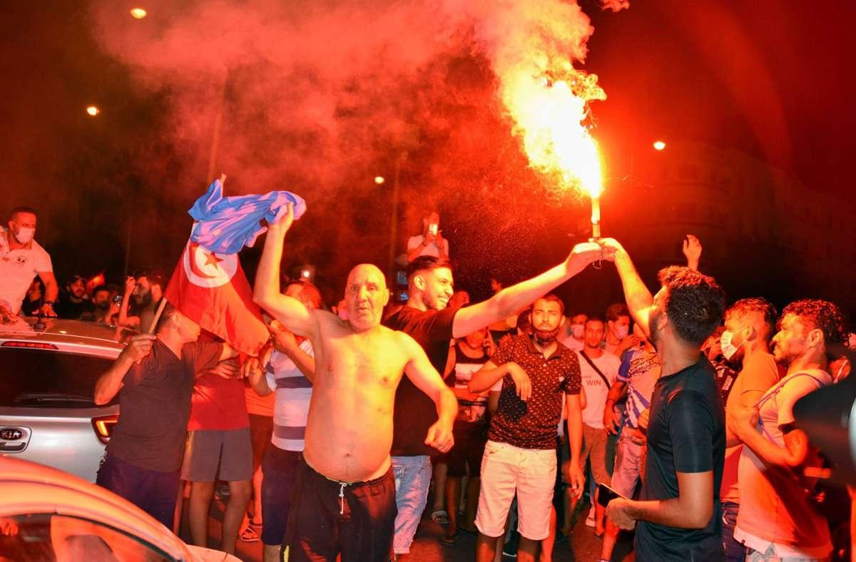 Die Proteste in Tunesien nehmen zu. Foto: imago images/ZUMA Wire/Jdidi Wassim via www.imago-images.de