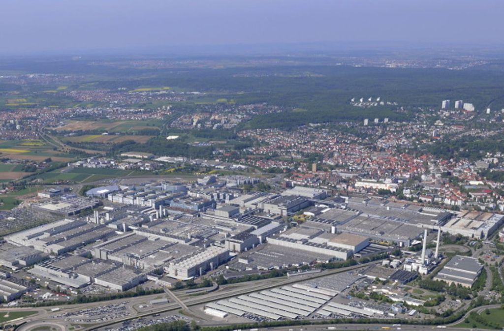 Auf dem Mercedes-Benz-Gelände in Sindelfingen wird gebaut. Foto: Archivbild/MediaPortal Daimler AG