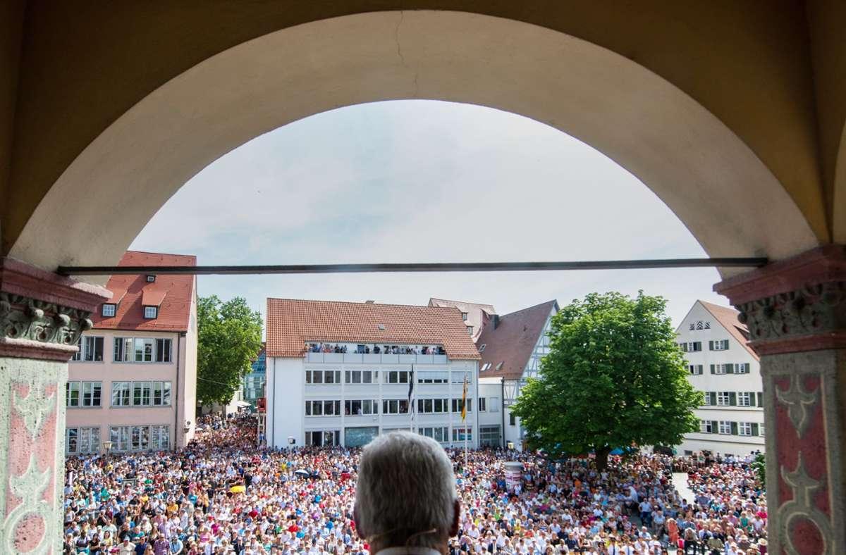 So voll wird's am Ulmer Weinhof auch diesen Sommer nicht. Foto: Stefan Puchner
