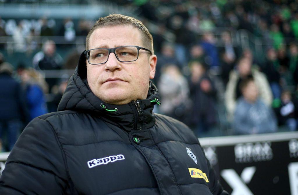 Max Eberl hat den Hoffenheim-Trainer in der ersten Halbzeit beleidigt, das belegen die Aufzeichnungen der Mikrofone am Spielfeldrand. Foto: Getty