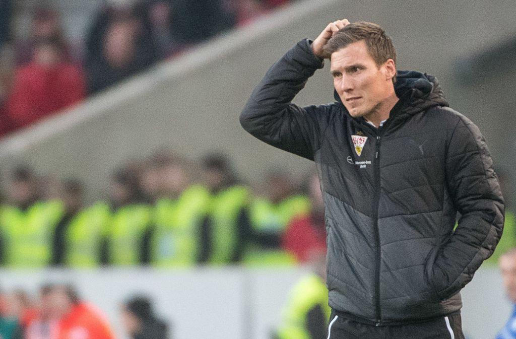 Am Ende fand er keine Antworten auf die sportlichen Fragen mehr: Ex-VfB-Coach Hannes Wolf Foto: dpa