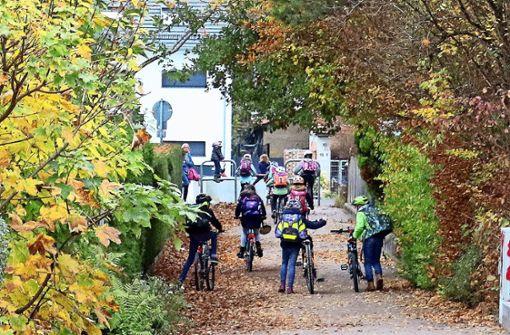 Eine Anliegerstraße soll Elterntaxis stoppen
