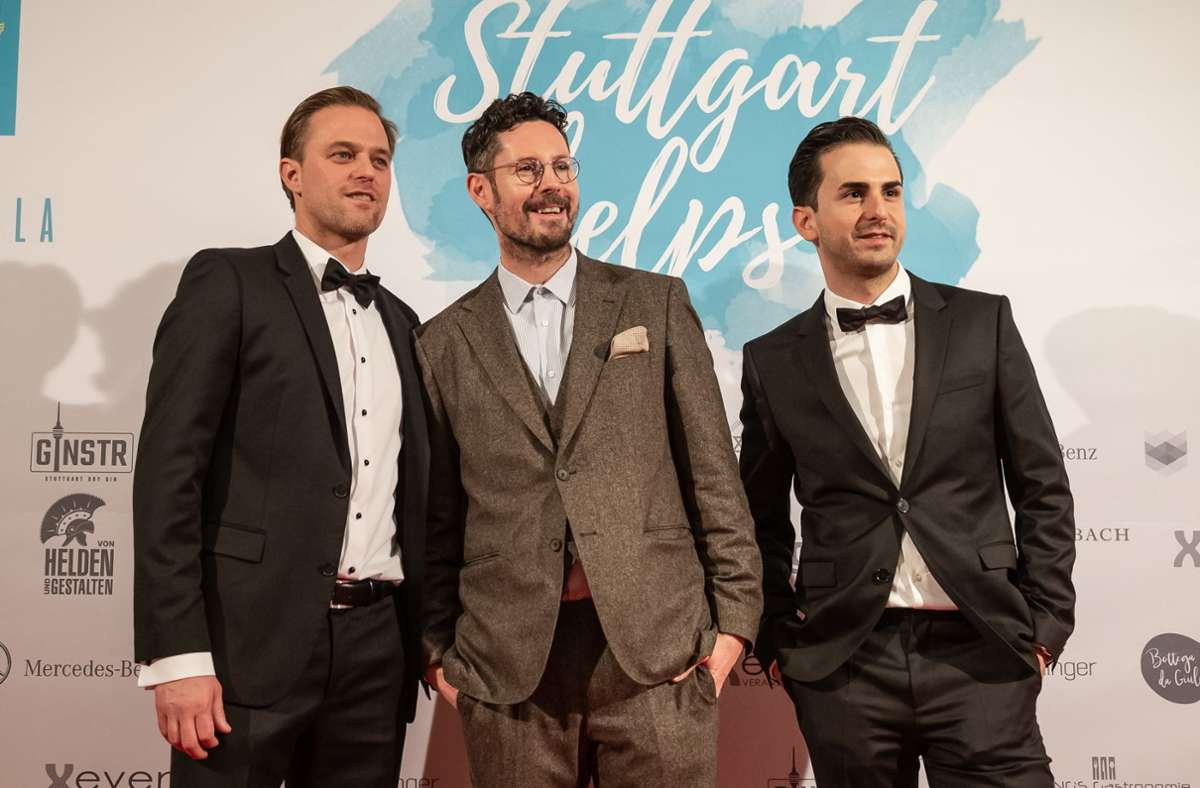 """Timo Hildebrand, Max Herre und Stelp""""-Geschäftsführer Serkan Eren freuen sich auf das neue Projekt. Foto: Lichtgut/Julian Rettig/Lichtgut/Julian Rettig"""