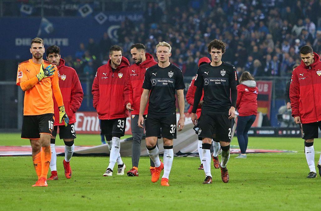 Der VfB Stuttgart hat am Samstag eine herbe 1:3-Schlappe beim HSV einstecken müssen. Foto: Pressefoto Baumann