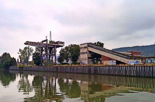 Ein Steg zwischen Villa Berg und Neckarpark