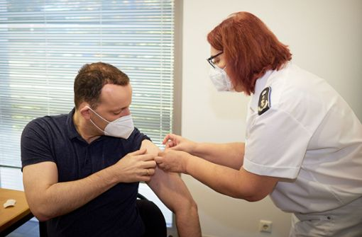 Jens Spahn hat seine Booster-Impfung bekommen