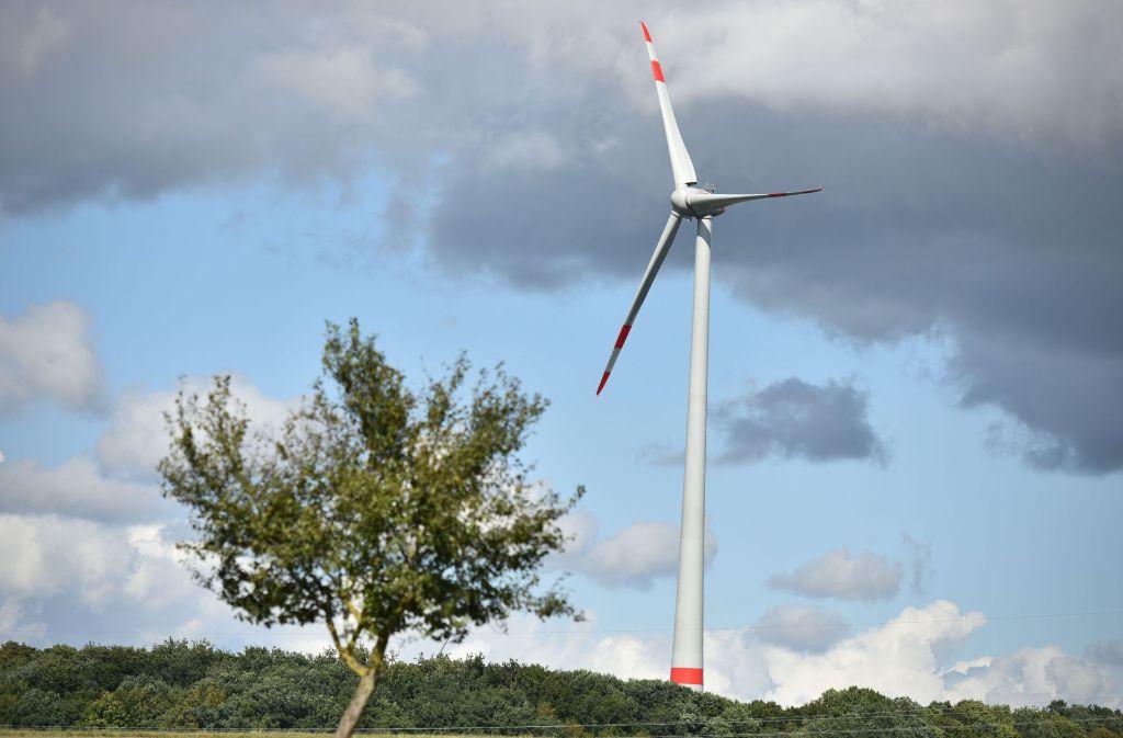 Ein  Windrads im Windpark Braunsbach. Foto: dpa