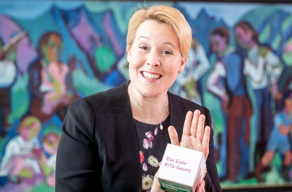 Familienministerin Franziska Giffey hat das Gute-Kita-Gesetz auf den Weg gebracht. Foto: dpa