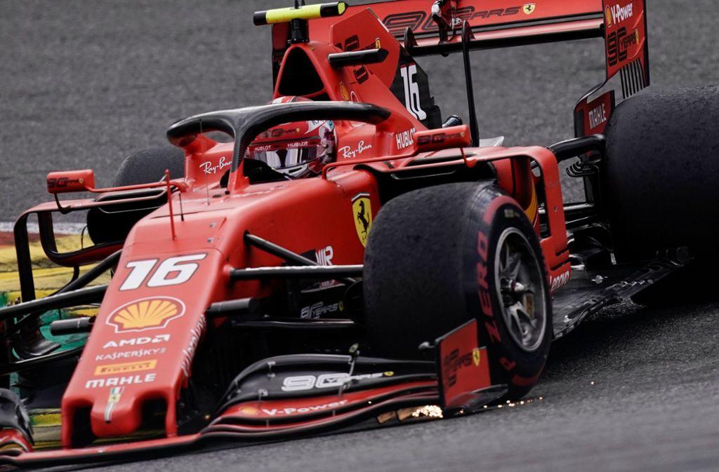 Charles Leclerc hat den Großen Preis von Belgien gewonnen. Foto: AFP