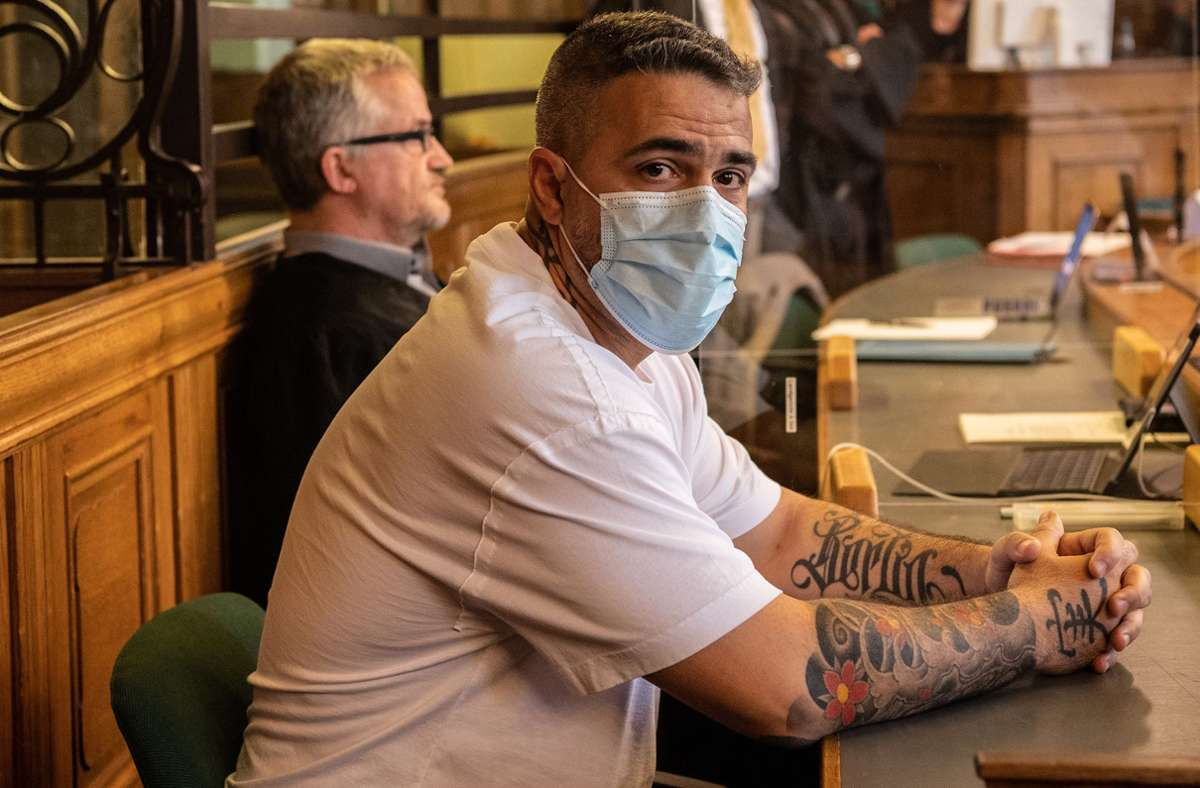 Der Rapper Bushido vor Gericht. Foto: dpa/Paul Zinken