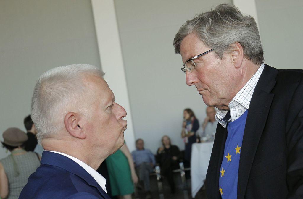 OB Fritz Kuhn (Grüne) und der amtierende Regionalpräsident Thomas Bopp (CDU). Foto: Lichtgut/Leif Piechowski