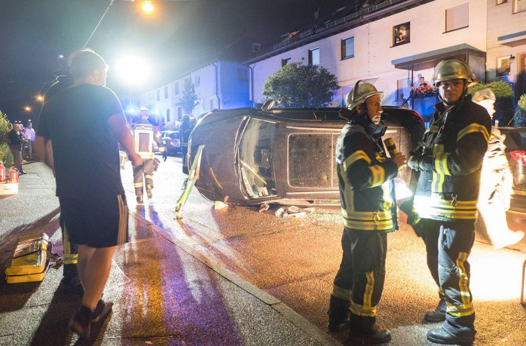 Vermutlich war der Fahrer betrunken und zu schnell unterwegs gewesen. Foto: 7aktuell.de/Frank Herlinger