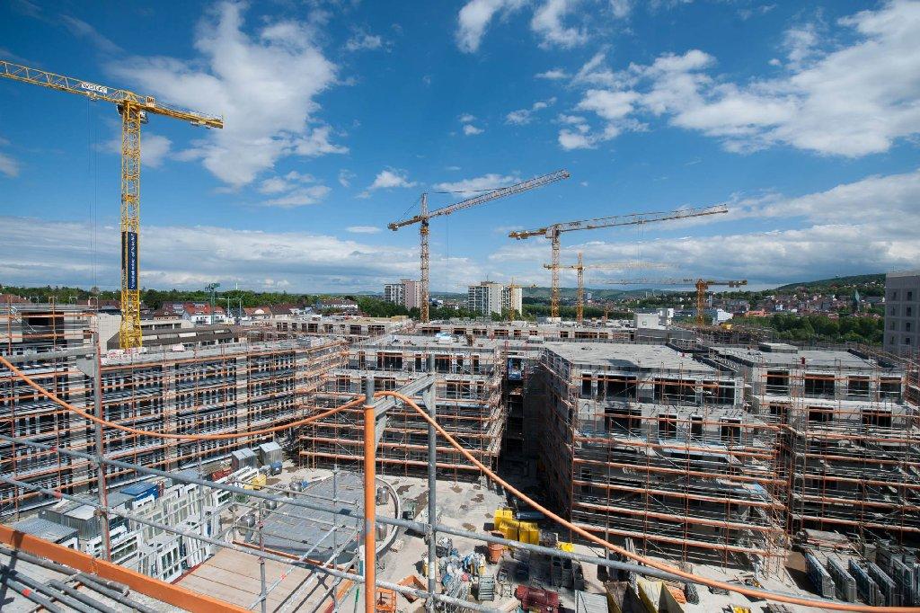 Bilder von der Milaneo-Baustelle im Mai gibt es in unserer Fotostrecke - klicken Sie sich durch. Foto: www.7aktuell.de   Florian Gerlach