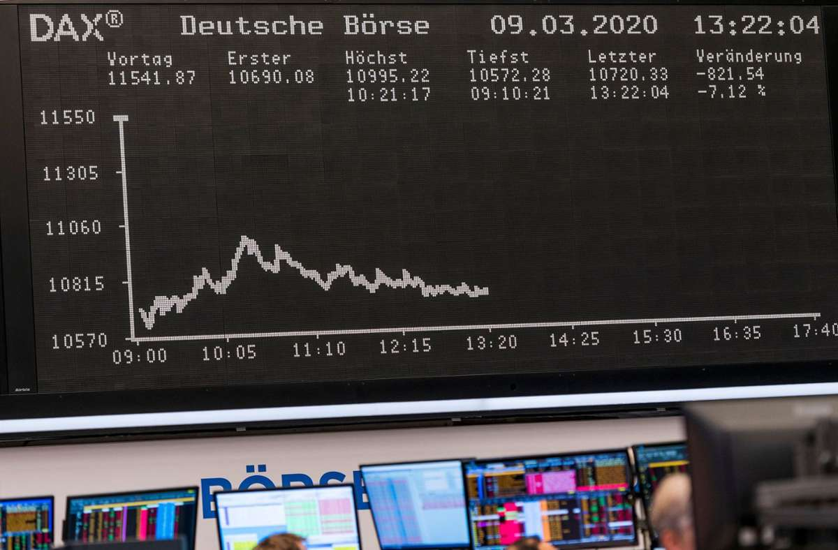 Die Händler an der Frankfurter Börse haben den Dax stets im Blick. Foto: AFP/TORSTEN SILZ