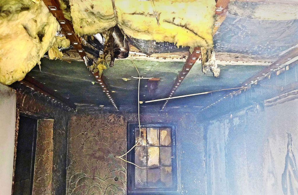 Nach dem Brand Foto: Gemeinde Hemmingen