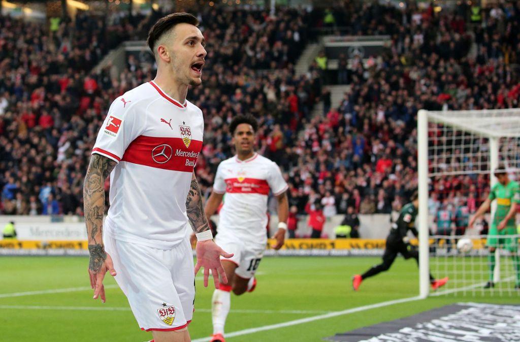 Der VfB Stuttgart hat gegen Borussia Mönchengladbach 1:0 gewonnen. Unsere Redaktion hat die Leistungen der VfB-Akteure wie folgt bewertet. Foto: Pressefoto Baumann
