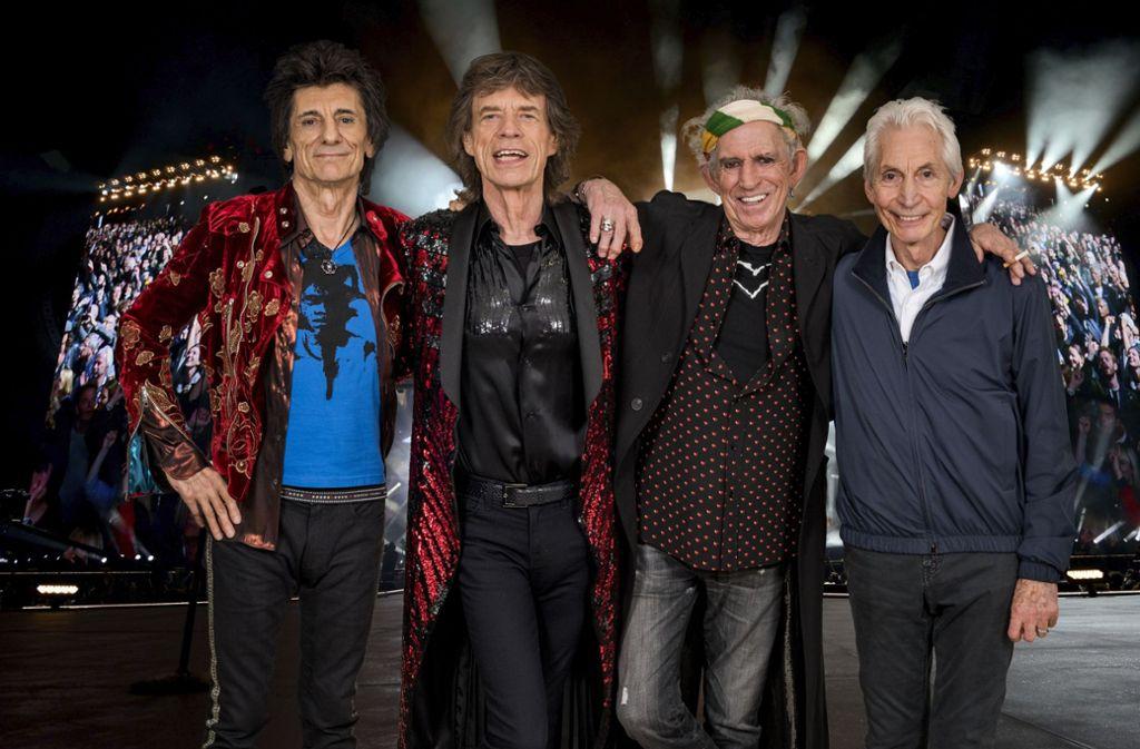 Immer noch gut in Schuss: die vier Stones Foto: Getty Images Europe/Music Circus