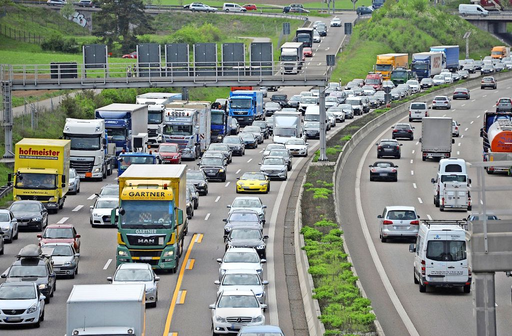 Stauland Baden-Württemberg: Im Südwesten ist der Verkehrssektor der größte CO2-Emittent. Foto: dpa