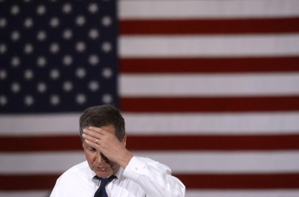 John Kasich hat bis zuletzt an seiner Bewerbung festgehalten, obwohl er nur einen Staat bei den Vorwahlen geholt hatte- Foto: AFP