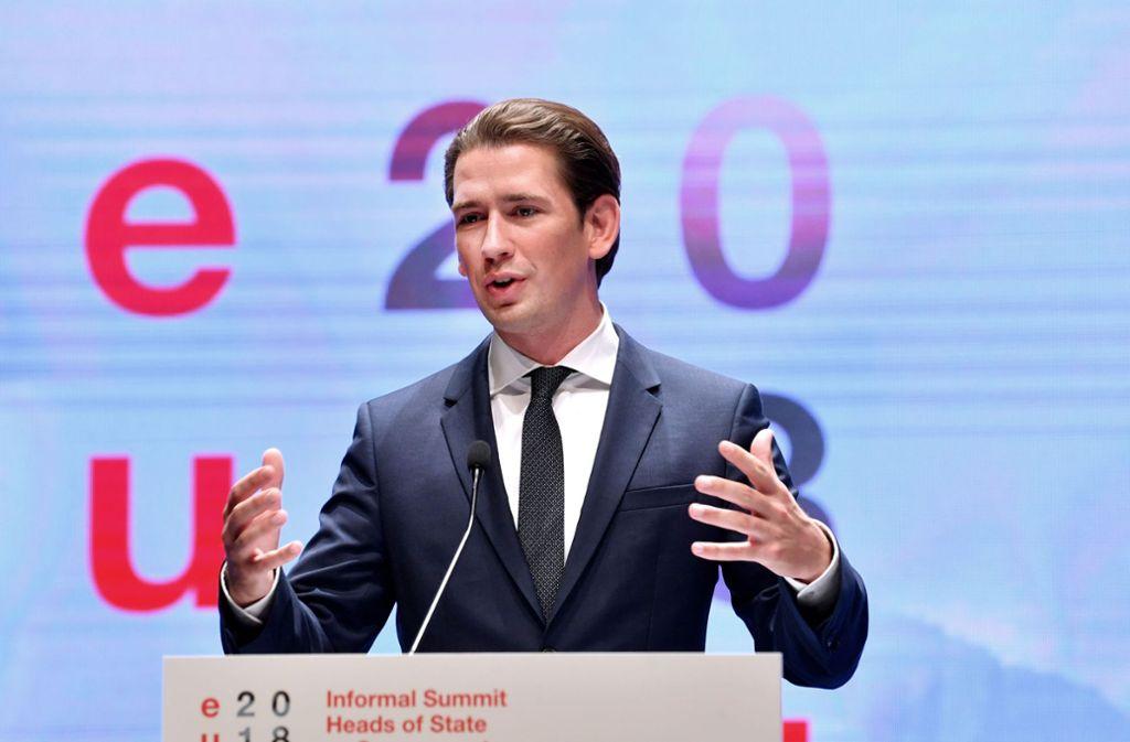 Österreichs Bundeskanzler Sebastian Kurz (ÖVP) hat das von der rechten FPÖ geführte Innenministerium kritisiert. Foto: APA