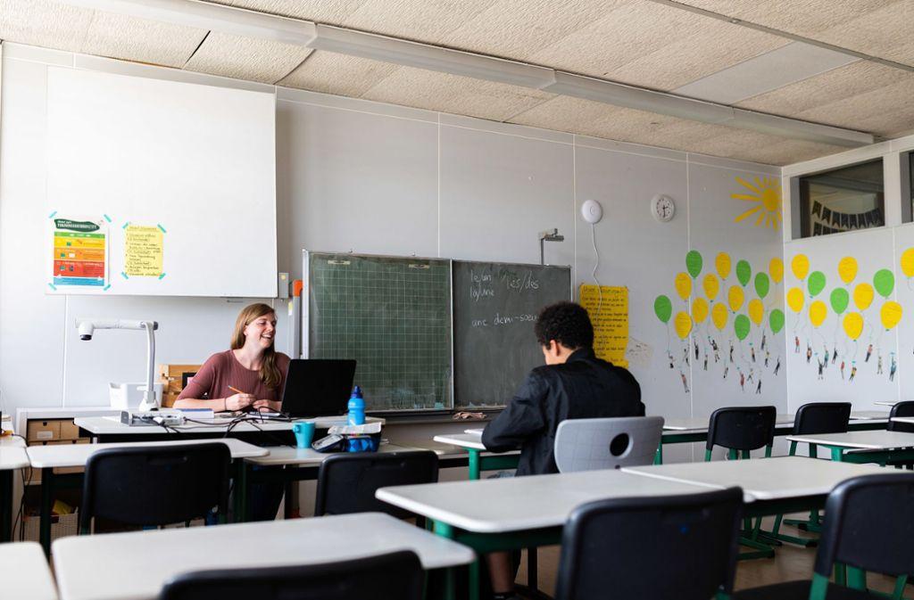Notbetreuung wie hier in einer Freiburger Schule wird es in Stuttgart auch während der Pfingstferien geben. Foto: dpa/Philipp von Ditfurth